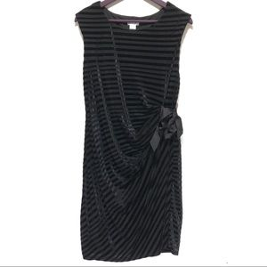 Motherhood Maternity Velvet Stripe Side Tie Dress